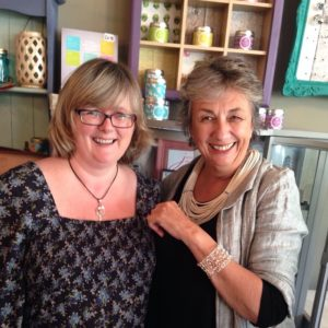 Annie Sloan chooses Janmary Designs hand-crocheted pearl cuff in Northern Ireland