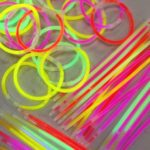 Glow bands at the primary school disco (before we sold out!)