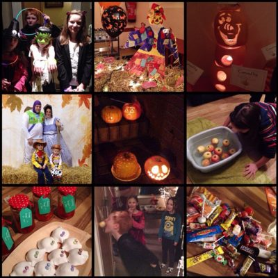 Great evening with friends, apple bobbing, trick or treating then FallFest at Seymour St