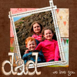 Father's Day digi-scrapbooking style