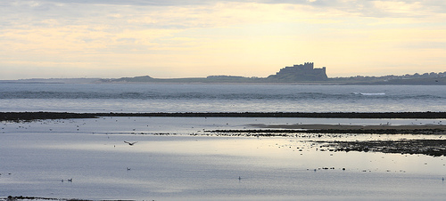 Bamburgh Castle from Holy Island