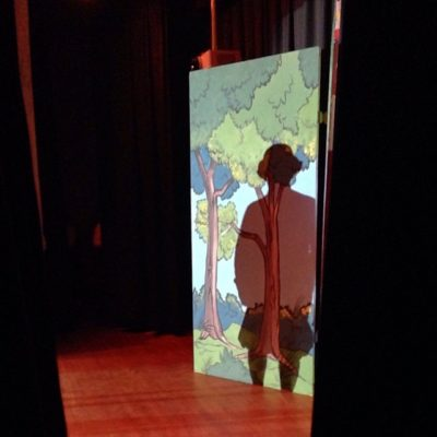 In the wings …. dress rehearsal of Seymour St Panto