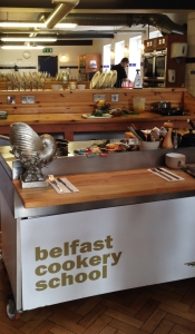 Cookery class at belfast cookery school mourne seafood for Food bar belfast