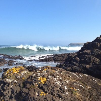 Final photo of the waves at Portballintrae!