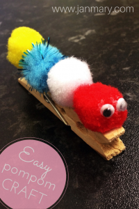 Pompom craft for toddlers - easy hungry caterpillar