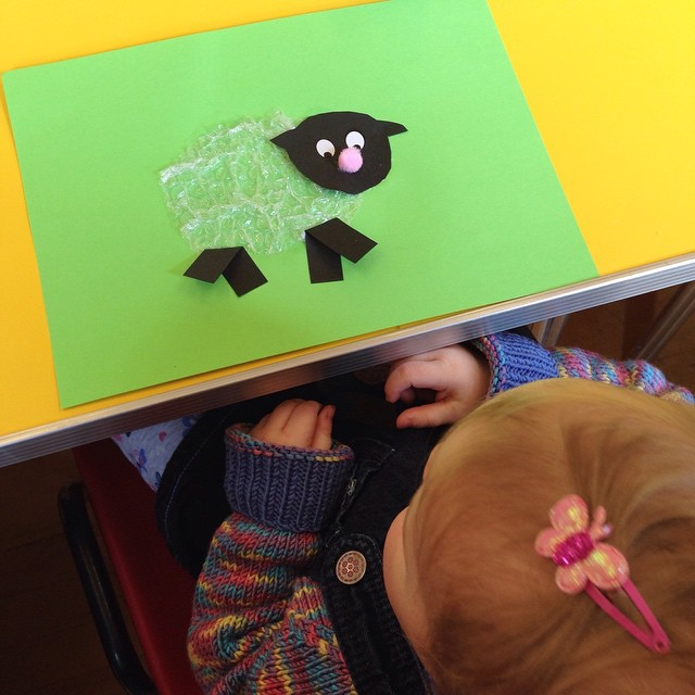 We made sheep at Toddler Group today