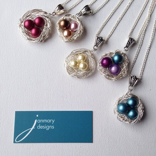 Creating more Janmary Designs nest pendants today - which one would you choose?
