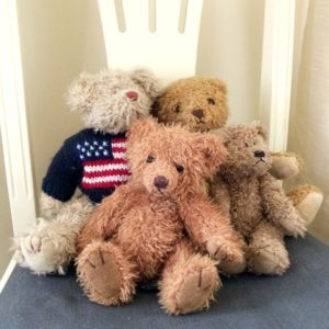 collection (a hug?) of teddies on on janmary.com