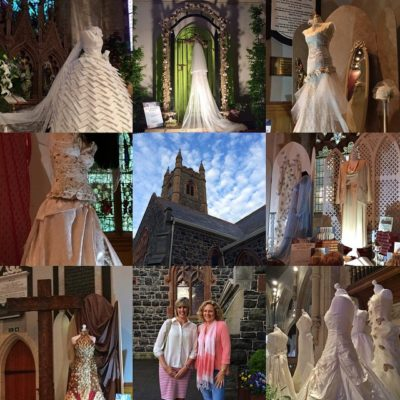 Some of the wedding dresses from Beyond the Veil exhibit celebrating the stories of women in the Bible