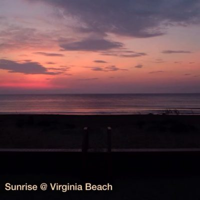 Sunrise on Virginia Beach – captured over 30 minutes with Fuji 100s