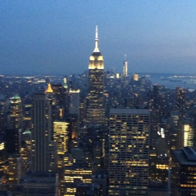A short video of the view over New York from Top of the Rock