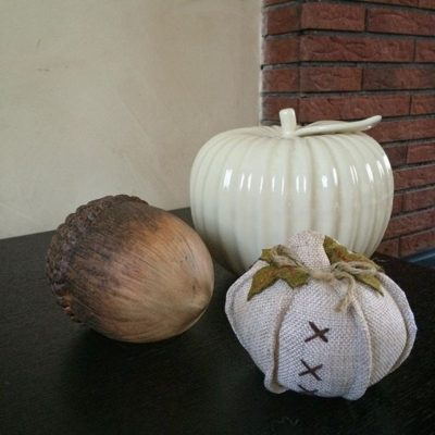 Few touches of autumn decor ….. too soon?