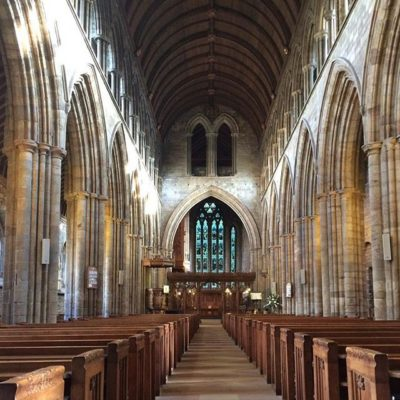 Inside Dunblane Cathedral, Scotland (most of building dates back to 13th century, parts of it even 11th century)