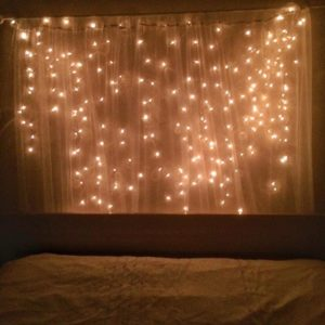 fairy lights over the bed on janmary.com