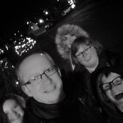 Christmas Eve tradition – family walk to see the Christmas lights