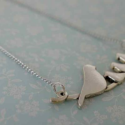 Nestling bird necklace from Janmary Designs
