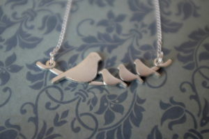 bird family necklace janmary designs