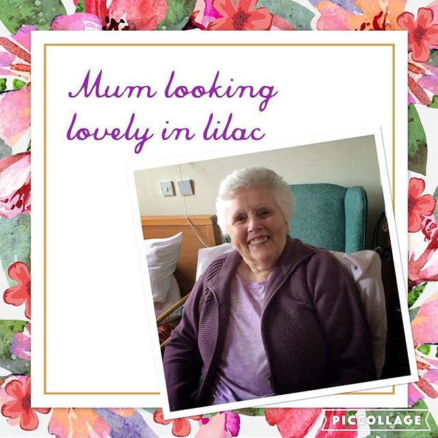 Mum looking lovely in lilac today