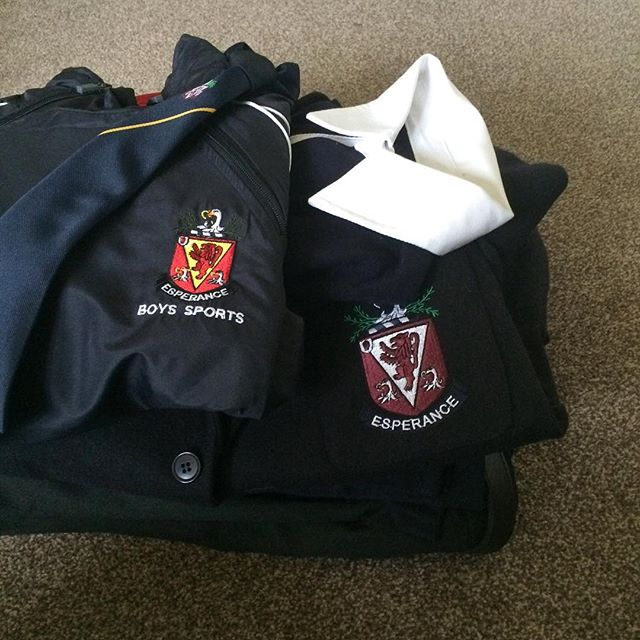 Labelling school uniform - better not lose any of it!!