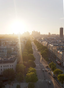 view from arc de triomphe janmary blog