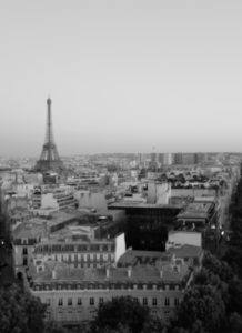 view eiffel tour from arc de triomphe janmary blog