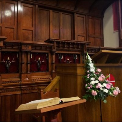 Lovely to be back in our church this morning to see the reconfigured pulpit/worship space