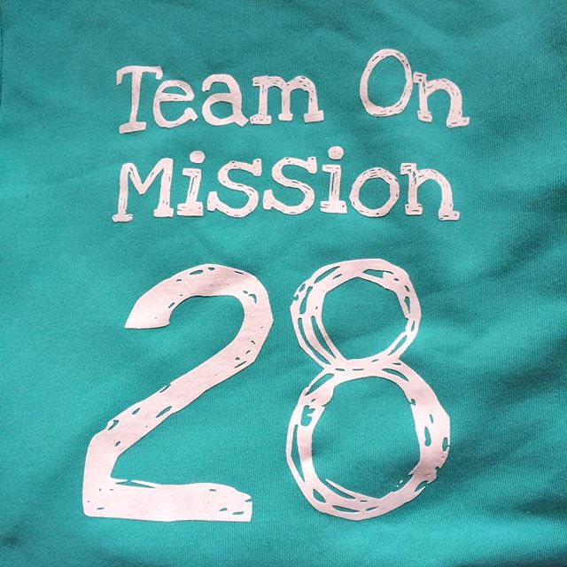 Love the Team on Mission TOM 28 hoodie - my photo today