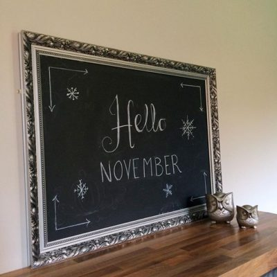 More fun doodling on my chalkboard – hello November!