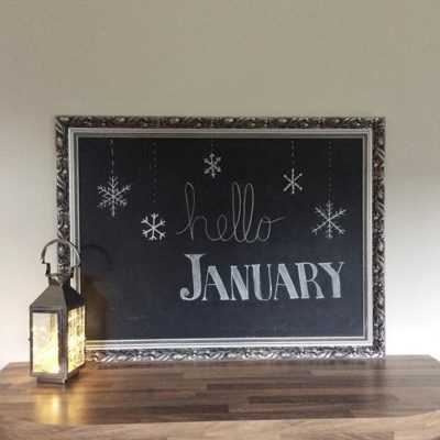 Hello January (just a wee bit late!)
