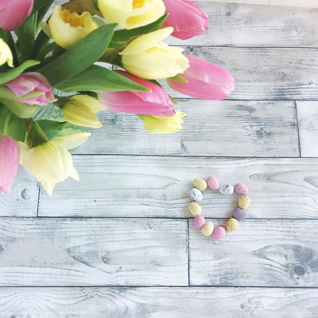 Happy Spring .... tulips,daffodils and mini eggs