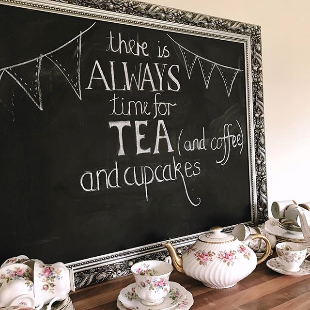 There's always time for tea (and coffee) and cupcakes
