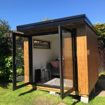 The new shed / she-shed / garden room / antisocial room / man-cave / coffee chapel!