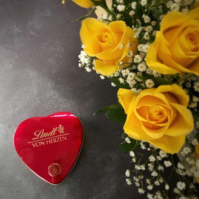 Lovely Lindt chocolates from a lovely husband - and very pretty to photograph too!