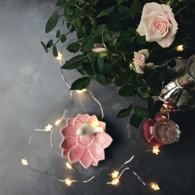 Faffing with flowers and fairy lights