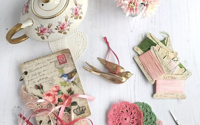 A collection of pretty petals and props