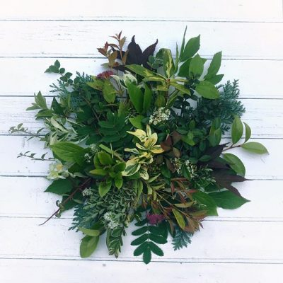 Faffing with foliage from the garden