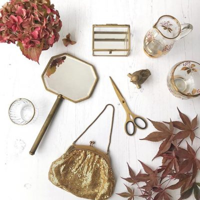 Autumnal golds and charity shop treasures