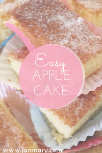 Easy and delicious apple cake recipe - perfect for autumn days. I love cooking or baking with apples and this is a quick and easy apple recipe.